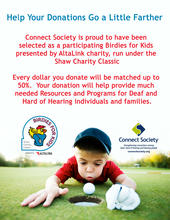 Connect Society has been selected as a participating Birdies for Kids Charity